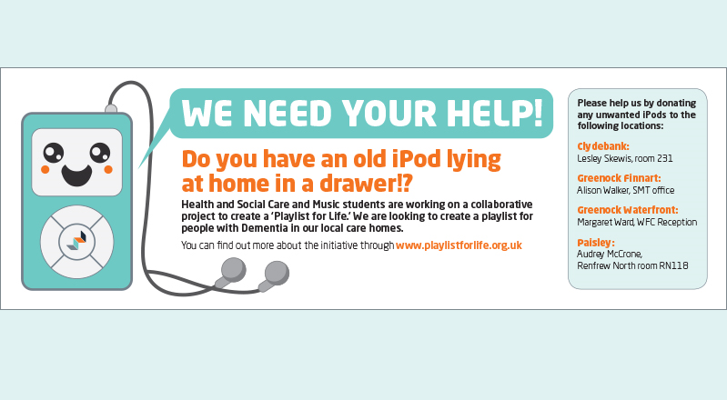 Donate Your Old Ipod 800x267px Student Intranet Carousel