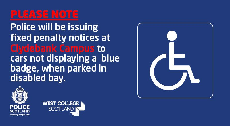 Student Intranet - Disabled Parking