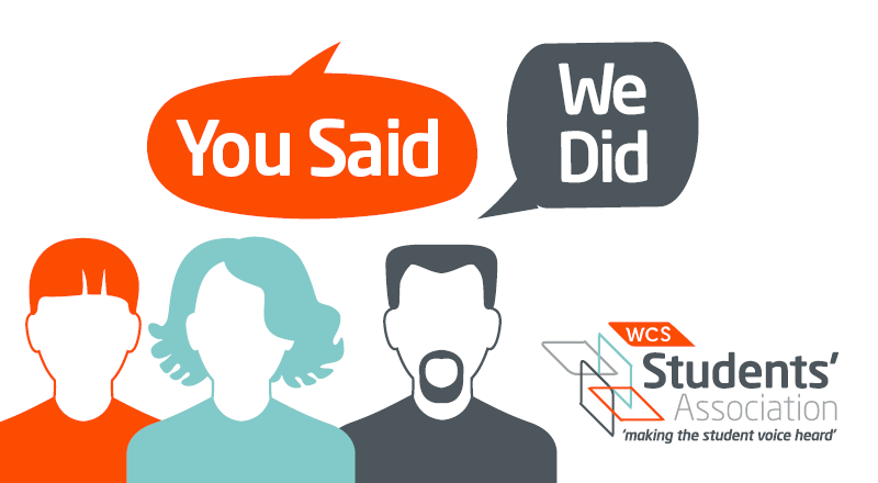 You Said We Did - Student Intranet