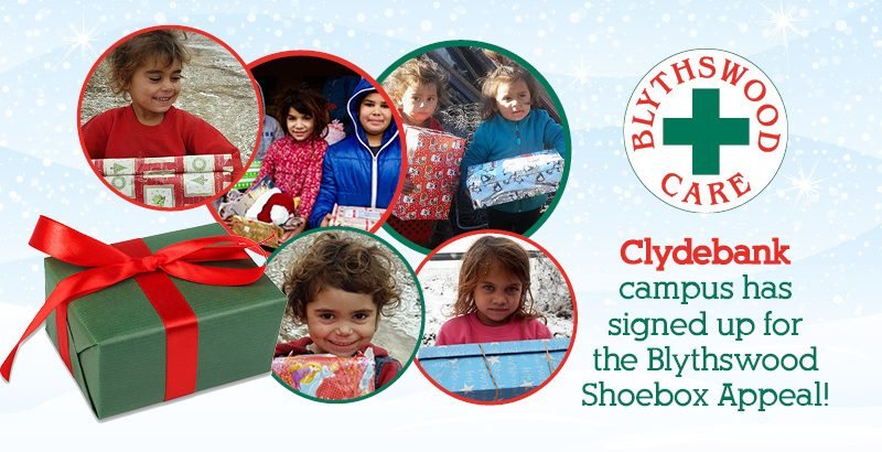 Blythswood Shoe box Appeal - Student Intranet Banner