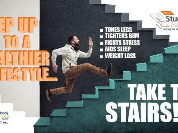 Take the Stairs Sudent Banner