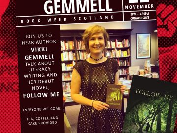 Join us to hear author Vikki Gemmell talk about literacy, writing and her debut novel, Follow Me