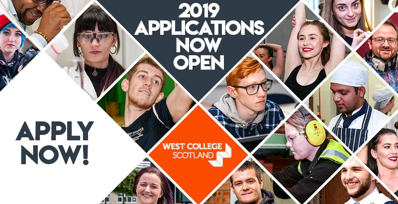 2019 Applications Open - Student Intranet Banner