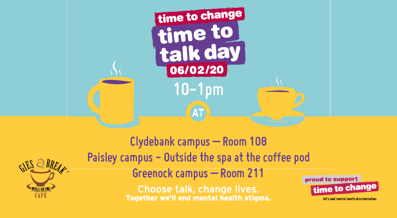 Time To Talk 2020 - Student Intranet Banner